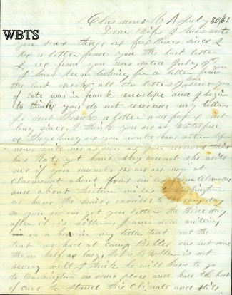 5th Maine Infantry Letter (Image1)