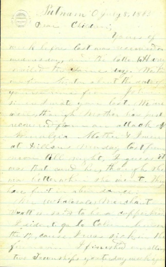 Letter, Great News Of Rebel Defeat At The Battle Of Gettysburg