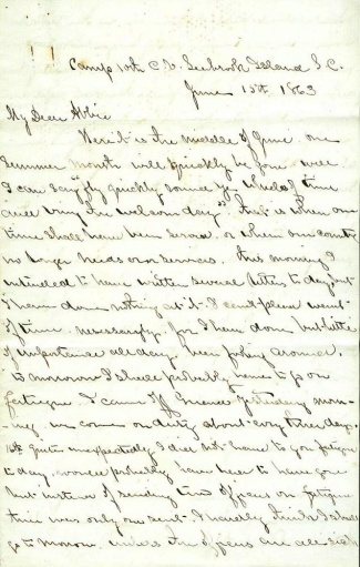 10th Connecticut Infantry Letter
