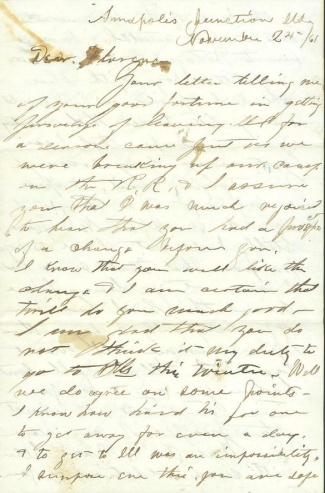 Civil War Soldier Letter From Annapolis Junction, Maryland (Image1)