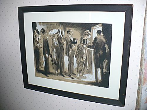 PAINTING BY EVERETT SHINN, STAGE DOOR (Image1)