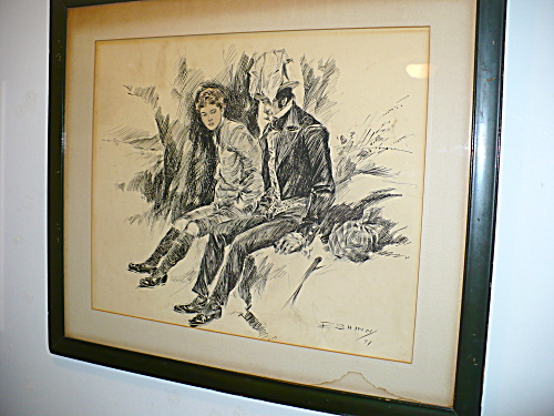 PEN & INK DRAWING BY EVERETT SHINN (Image1)