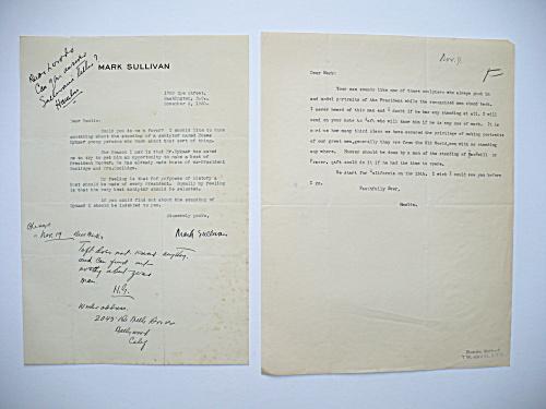 1930 HAMLIN GARLAND AUTOGRAPHED LETTER, HERBERT HOOVER PRESIDENTIAL SCULPTURE (Image1)