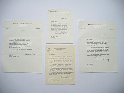 1966/1967 GENERAL LUCIUS D. CLAY AUTOGRAPHED LETTERS POLITICAL CAMPAIGN (Image1)