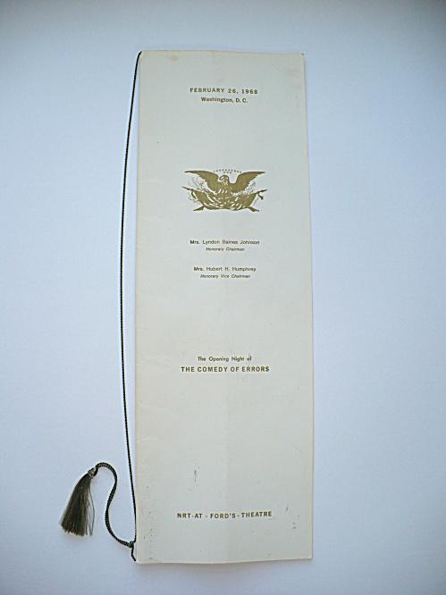 1968 RESTORED FORD'S THEATRE WASHINGTON D. C. OPENING NIGHT PROGRAM (Image1)