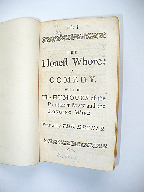 1744 English Play Honest Whore Humours Of The Patient Man And Longing Wife
