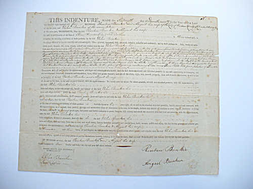 1805 JARED COFFIN REUBEN ELIHU BUNKER NANTUCKET, MASS. HUDSON NEW YORK DOCUMENT (Image1)