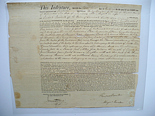 1814 REUBEN BUNKER NANTUCKET MASS HUDSON NEW YORK JAMES STRONG DOCUMENT  (Image1)