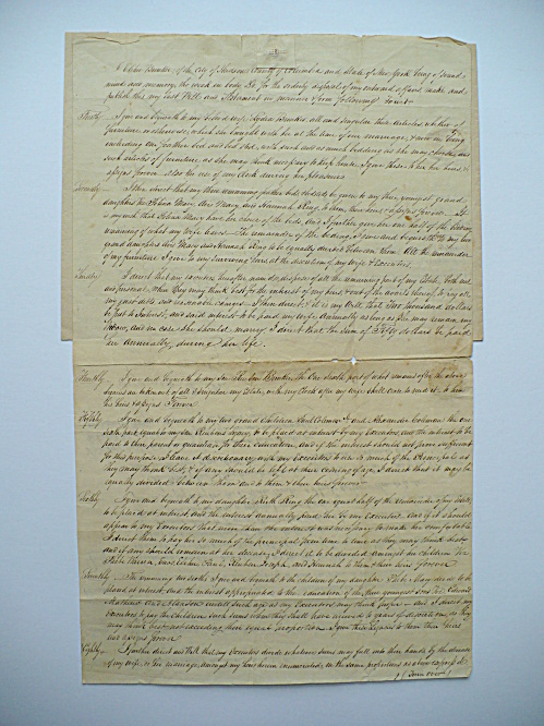 1821 ELIHU BUNKER NANTUCKET MASSACHUSETTS ABRAHAM VAN BUREN NEW YORK DOCUMENT (Image1)