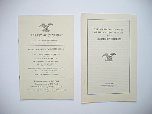 RARE LIBRARY OF CONGRESS FIRST STRADIVARIUS MUSIC CONCERT PROGRAM, RACHMANINOFF (Image1)