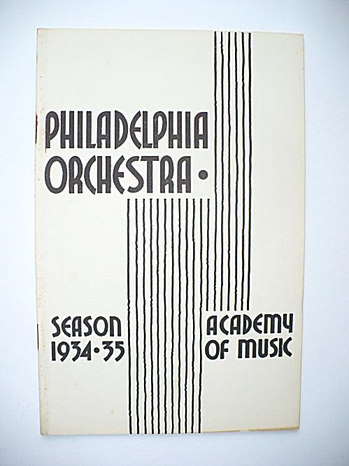 1934 STRAVINSKY MAVRA PREMIERE PHILADELPHIA ORCHESTRA MUSIC PROGRAM (Image1)