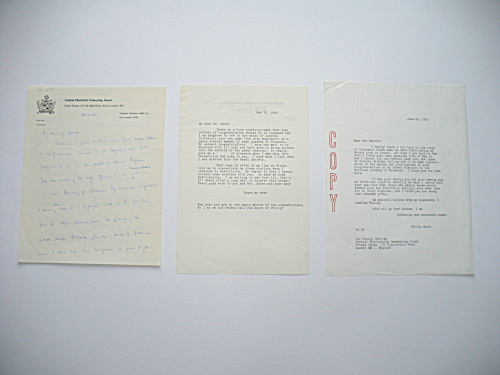 1962 ENGLISH BRIGADIER-GENERAL AND CHEMIST SIR HAROLD HARTLEY AUTOGRAPHED LETTER (Image1)