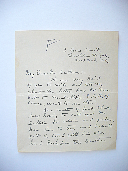 RARE HENRY PRINGLE AUTOGRAPHED LETTER, THEODORE ROOSEVELT BOOK (Image1)