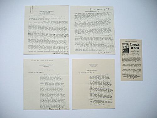 Strickland Gillilan Autographed Letters Finnigan To Flannigan Poem