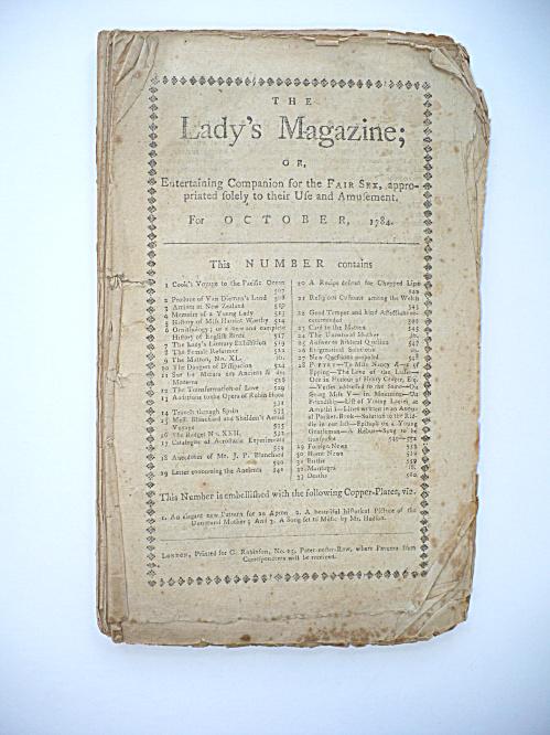 1784 MAGAZINE CAPTAIN COOK, HOT AIR BALLOON RIDE EXPERIMENTATION  (Image1)