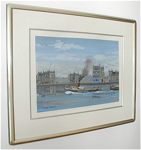 ORIGINAL PAINTING, BOATS, BY MICHEL DELACROIX (Image1)