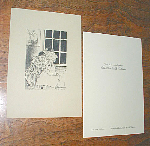 LITHOGRAPH OF TWO CLOWNS BY ETHEL GABAIN (Image1)