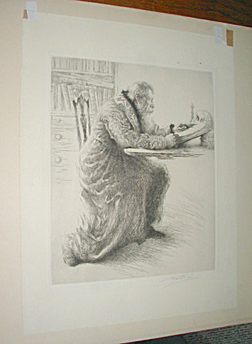Faust Etching By Franklin Wood