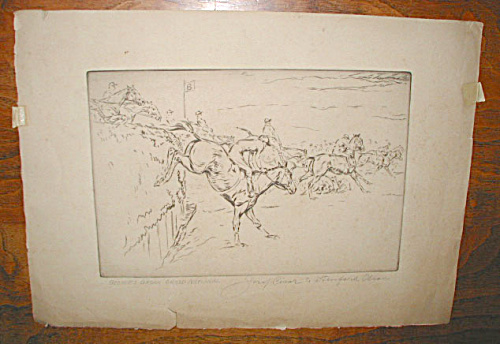 BECHER'S BROOK GRAND NATIONAL HORSE ETCHING (Image1)
