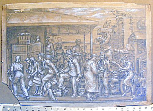 TRUCK PLATFORM SCENE BY AMERICAN  ARTIST JARED FRENCH (Image1)