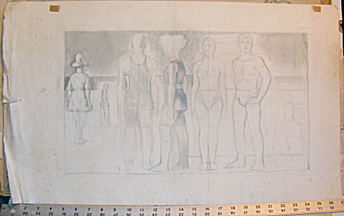 Study Of Figures On A Beach By Jared French