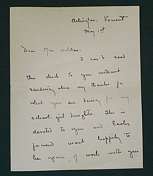 LETTER BY DOROTHY CANFIELD FISHER  (Image1)