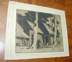 Click here to enlarge image and see more about item 385: WHEELWRIGHTS ETCHING BY ERIC HUBBARD