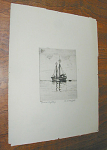 "Etching of the Bartlett lightship by M. R. Moffatt as indicated in the plate and in pencil on the lower margin.  Approximate etched plate dimensions are 5""h x 4""w and approximate sheet dimensions are 12.5""h x 9.5""w.  The etching is in excellent condition.  Please inquire if you have questions."