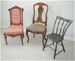 Are you seeking information regarding antique chairs you own?  As professional appraisal experts we offer appraisal and research services to provide you with answers to your questions regarding the identification, history and value of antiques and fine art.  Information about antiques and fine art benefits you by increasing your understanding and appreciation for your antique items.  Value assessment enables you to determine whether you have adequate insurance coverage for your antiques and fine art. 