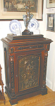 Click here to enlarge image and see more about item 485: RARE EASTLAKE CABINET WITH MOLDED PANEL