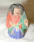 JAPANESE PAINTED WOOD NETSUKE