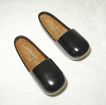Click to view larger image of PAIR OF MINIATURE BLACK LACQUERED SHOES (Image1)