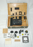 Old Fairchild Army Air Force Gun Sight Aiming Point camera complete in the original box along with components for the camera.  Please inquire with your questions and/or a shipping quote.