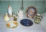 Are you seeking information regarding china and porcelain you own?  As professional appraisal experts we offer appraisal and research services to provide you with answers to your questions regarding the identification, history and value of antiques and fine art.  Information about antiques and fine art benefits you by increasing your understanding and appreciation for your antique items.  Value assessment enables you to determine whether you have adequate insurance coverage for your antiques and fine art.  How can our professional appraisal and research expertise help you?  If you have china, porcelain, ceramics, etc. which you would like to know more about we can identify marks on those items and provide you with biographical information about the makers or manufacturers of those items as well as value assessment.  What is our professional background?  Our antiques and fine art appraisal business has served satisfied clients over many years as a member of the New England Appraisers Association.  Our reputation is one of impeccable integrity as witnessed by outstanding membership in the Better Business Bureau.  Our appraisal and research capabilities include a wide spectrum of antiques and fine art with significant experience in the evaluation of American and European paintings and sculpture, American and European silver, porcelain, ceramics, glass, books, autographs, etc.  Access to an extensive art and antique history reference library located at Dartmouth College in Hanover, N.H. which contains a vast quantity of art and antique related research materials enables us to locate virtually any available information regarding just about anything in the way of antiques and fine art.  What is the cost for utilizing our appraisal and research services?  We offer our professional appraisal and research expertise for a reasonable fee.  Please inquire and we will indicate what the fee would be to provide you with information and values about your antique item(s).  The fee f